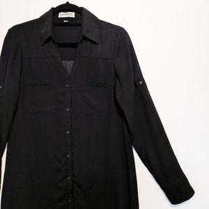 Express Portofino Long Sleeve Shirt Dress
